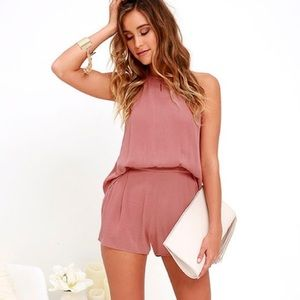 Olive and Oak Dusty Rose Romper